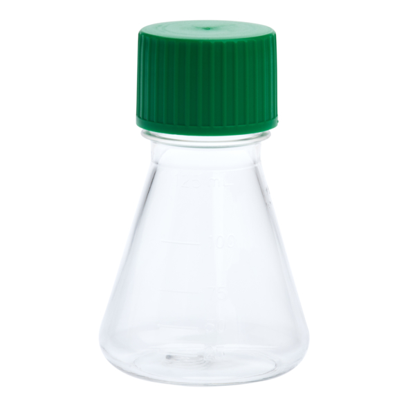 img613 125ml petg erlenmeyer flask solid cap