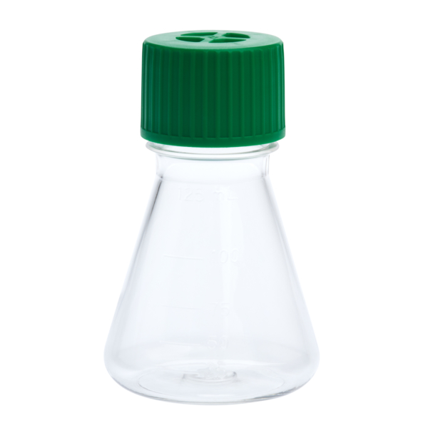 img617 125ml petg erlenmeyer flask vent cap