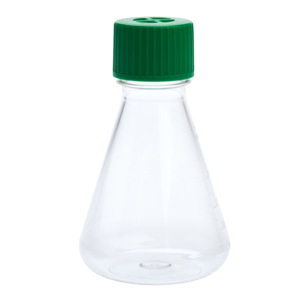 img618 250ml petg erlenmeyer flask vent cap