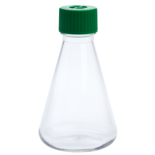img619 500ml petg erlenmeyer flask vent cap