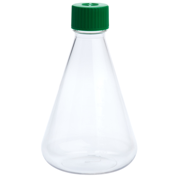 img620 1000ml petf erlenmeyer flask vent cap